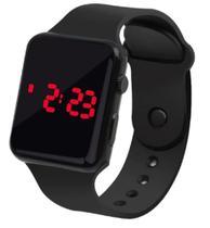Relógio Digital De Led Quadrado Pulseira Bracelete Adulto Infantil Preto - Sm