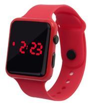 Relógio Digital De Led Quadrado Pulseira Bracelete Adulto Infantil Vermelho - sm