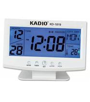 Relógio Digital Despertador Com Temperatura E Data Lcd Luz Kadio Kd-1819
