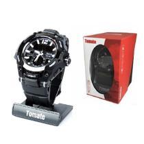 Relogio digital esportivo de pulso a prova de agua com cronometro alarme luz noturna lcd tempo duplo analogico masculino - Gimp