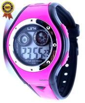 Relógio Digital Infantil Meninas Shock Luz Pink Preto - Sm