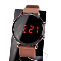 Relogio Digital LED Bracelete Marrom data Alarme Cronômetro - Pretty Sports