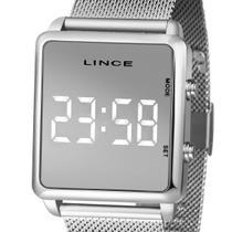 Relógio Digital Led Lince Feminino MDM4619L BXSX Prateado -
