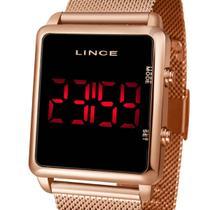 Relógio Digital Led Lince Feminino MDR4596L PXRX Rose -