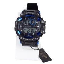 relógio digital masculino pulseira ajustável silicone alarme e cronometro - Orizom