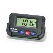 Relógio Digital Portátil Carro Cronometro Despertador Data Preto 613D - Oksn