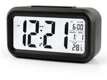 Relógio Digital Portátil de Mesa Led Lcd Brilha no Escuro -