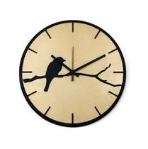 Relógio Dourado com passarinho decoração Sala Cozinha - Az Design