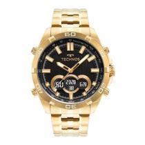 Relógio Dourado Masculino Technos Digiana BJK629AA/1P -