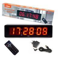 Relógio e Cronômetro Digital de Parede Mesa com Controle Remoto e Timer - Lelong