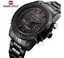 Relógio Esportes Analógico - Digital Cronógrafo Naviforce Nf9024 -