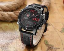Relógio Esportes/ Militar Analógico / Digital Multifunções Naviforce Nf9095 -