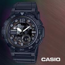 Relógio Esportivo Digital Original Aeq100w CRONÔMETRO REGRESSIVO 5BAR Preto -