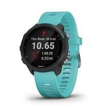 Relógio Esportivo Garmin Forerunner 245 Music Preto e Aqua com GPS e Monitor Cardíaco -