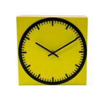 Relógio Estação Amarelo Decoração Sala Cozinha - Az Design