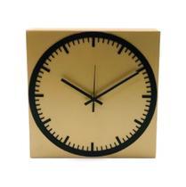 Relógio Estação Dourado Decoração Sala Cozinha - Az Design