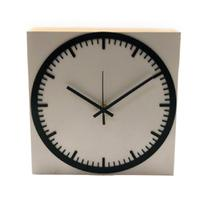 Relógio Estação Prata Decoração Sala Cozinha - Az Design