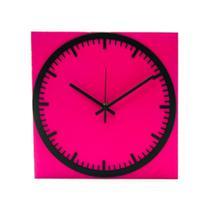 Relógio Estação Rosa Decoração Sala Cozinha - Az Design