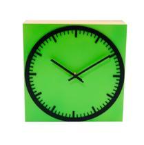 Relógio Estação Verde Decoração Sala Cozinha - Az Design