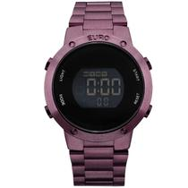 Relógio Euro Digital Feminino Roxo EUBJ3279AD 4T 926182ed0a