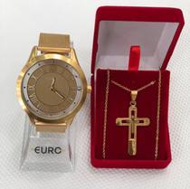 Relógio Euro Feminino Analógico + Acessório -