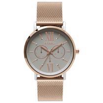 Relógio Euro Feminino Multifunção Rose E Prata Eu6p29aha/5k -