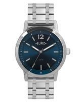 Relógio Euro Feminino Prata Azul EU2035YRP/3A -