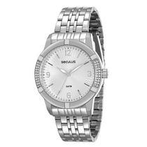 Relógio Feminino Analógico 28559L0SVNS2 - Cromado -Seculus -