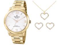 Relógio Feminino Analógico Champion Passion - CN28704D Dourado com Acessórios