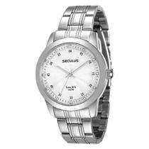 Relógio Feminino Analógico Seculus 28745L0SVNA2  Cromado -