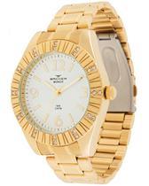 Relógio feminino backer munich dourado 3936145fbr -