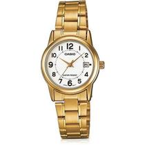 Relogio Feminino Casio Collection - Ltp-v002g-7budf - Dourado