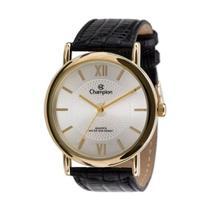 Relógio Feminino Champion Dourado Mostrador Prata Quartz -