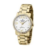 Relógio Feminino Champion Dourado Quartz Passion com Pedras -