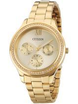 a5f83d9e6dc Relógio Feminino Citizen TZ28342G 36mm Aço Dourado