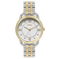 Relógio Feminino Condor Prata E Dourado Luxo Romano Bicolor -