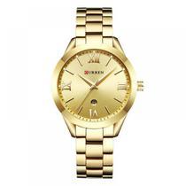 Relógio Feminino Curren Analógico C9007L - Dourado -
