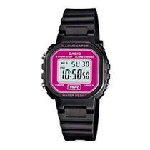 6e89c011b47 Relógio Feminino Digital Casio LA-20WH-4ADF - Preto Lilás