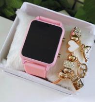 Relógio Feminino Digital Led + pulseiras - Vilasmart