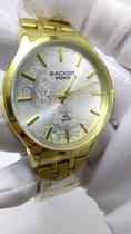 Relógio Feminino Dourado Backer Bremen 3397145F -