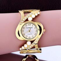 Relógio Feminino Dourado Bracelete Analógico Quartz - Cansnow