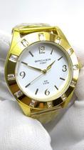 Relógio Feminino Dourado com Pedras Backer Forst 3473145F BR -
