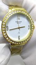 Relógio Feminino Dourado com Pedras Backer Munich 34310044 BR -