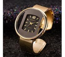 Relógio Feminino Dourado Quartz  Gold Presente namorada, mães - Cansnow