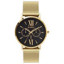 Relógio feminino euro dourado eu6p29ahc/4p -