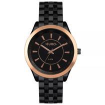43b042db5dc Relógio Feminino Euro EU2035YOW 4P 43mm Aço Preto