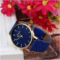 Relógio feminino geneva adulto cor  azul -