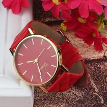 Relógio feminino geneva adulto cor vermelho -
