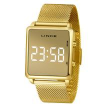 Relógio Feminino Lince Digital LED Dourado MDG4619L-BXkX Original -