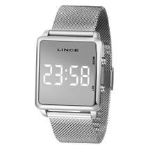 Relógio Feminino Lince Digital LED Prata MDM4619L-BXSX Original -